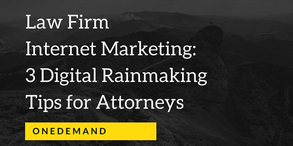 Law Firm Internet Marketing 3 Digital Rainmaking Tips Twitter