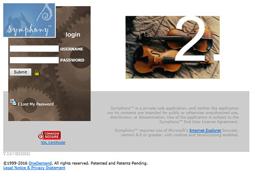 Symphony Attorney Website Redesign OneDemand
