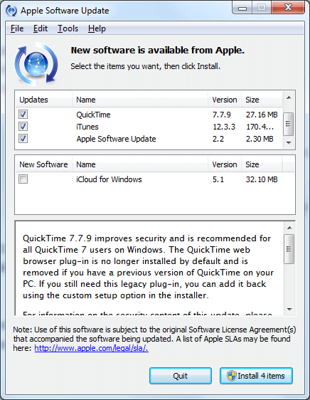 Apple Software QuickTime