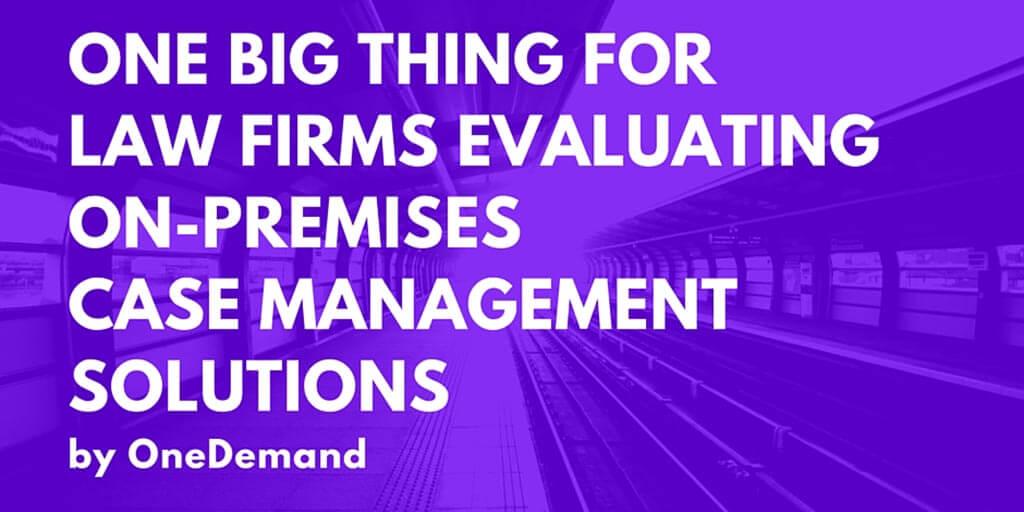 On-Premises Case Management Solution Twitter