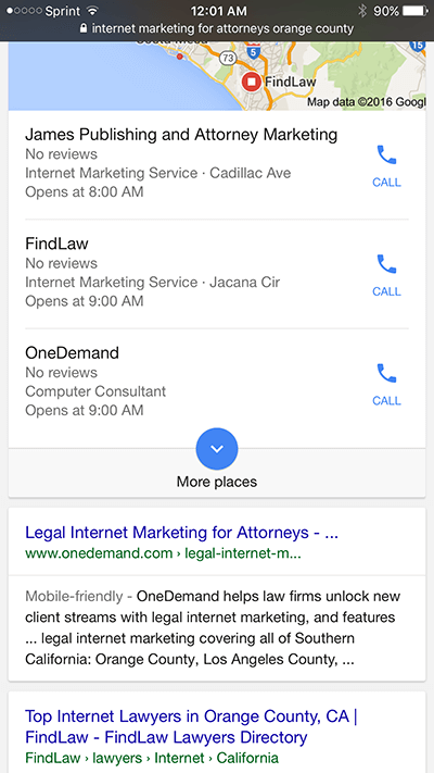 OneDemand Ranking Law Firm Internet Marketing